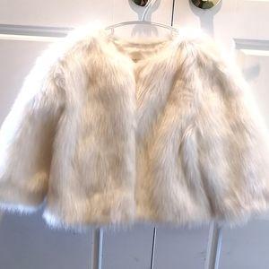 Gymboree Faux fur coat Size 5-6